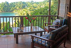 Balcony with chairs Tabago ecotourism