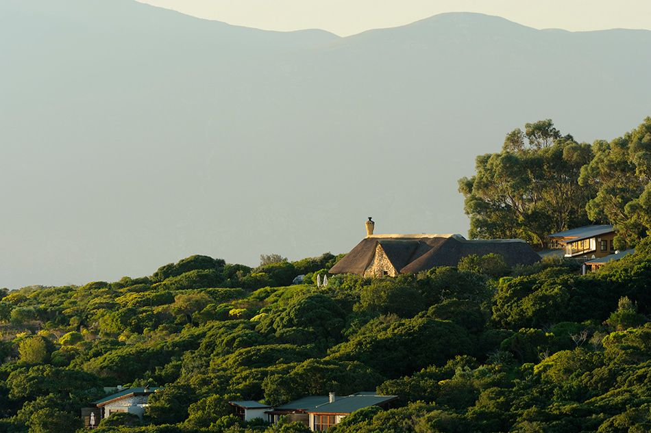 building on hillside South Africa Grootbos ecolodge