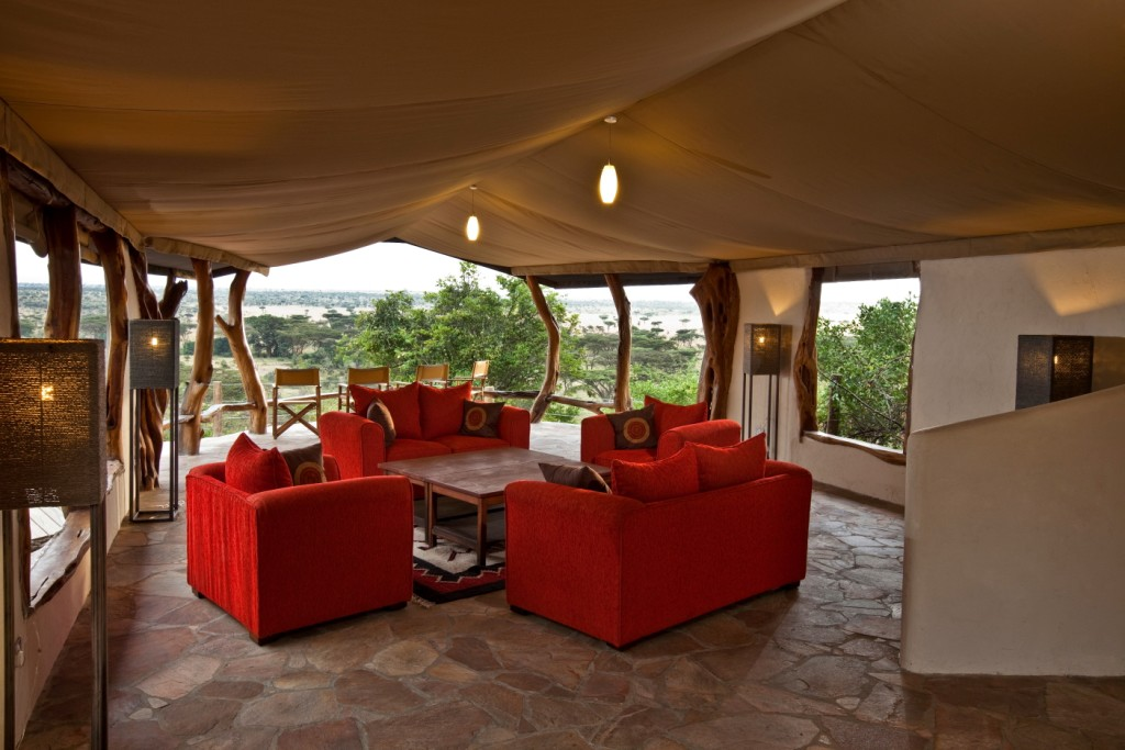 Living room safari tent Kenya